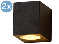 2x LED's Light Square Buitenlamp | GU10