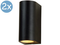 2x LED's Light Round Buitenlamp | 2x GU10