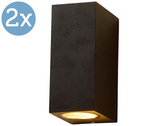 2x LED's Light Square Buitenlamp | 2x GU10