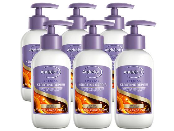 6x Andrelon Keratine Repair Crème