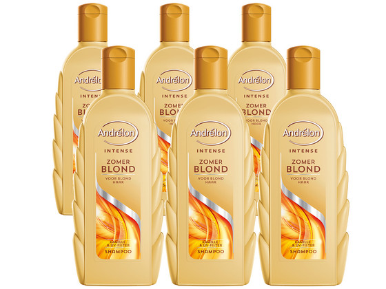 Korting 6x Andrelon Intense Shampoo Blond