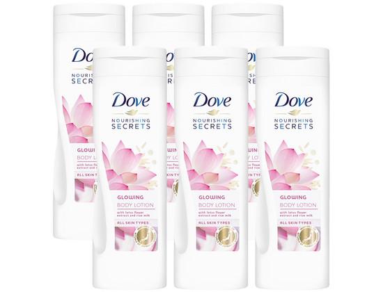 Korting Dove Glowing Bodylotion | 6x 250 ml