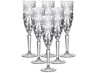 6x RCR Oasis Champagneglas