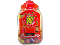100x Pin Pop Lollies | Erdbeere