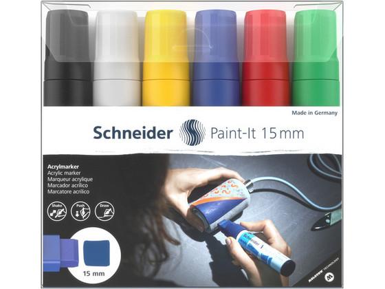 Korting 6x Schneider Paint it Acrylverfstift 15 mm