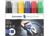 6x Schneider Paint-it Acrylverfstift | 15 mm