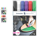 6x Schneider Paint-It Acrylverfstift | 4 mm