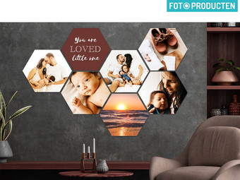 Voucher: 10x Foto op Hexagon