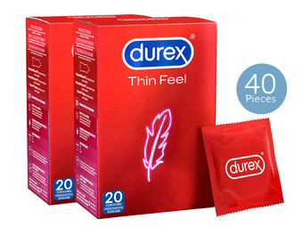 40 Durex Feel Thin Kondome