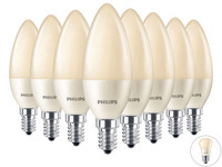 8x Philips Dimbare LedFlame | E27 of E14