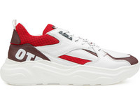 OTP LeaTher Trio Sneakers | Weiß/Rot