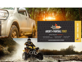 Voucher: 1u Quad & 2u 4x4 + Paintball Ticket