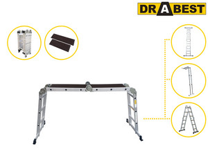 Drabest Multi Ladder | 4x 3 Treden
