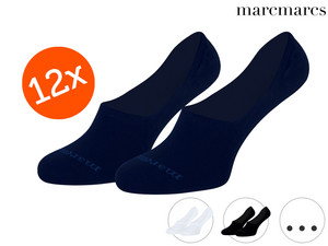 12x MarcMarcs Invisible Baumwoll-Sneakersocken